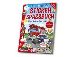Das extragrosse Stickerspassbuch Fahrzeuge