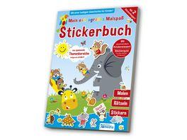 Mein extragrosses Malbuch Stickerbuch Kindergarten 1
