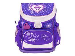JOLLY Belmil MINI FIT Love Purple 60 teiliges Schultaschen Set
