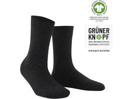 WILOX Damen Socken ORGANIC COTTON GRUeNER KNOPF