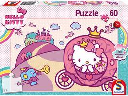 Schmidt Spiele Kinderpuzzle Hello Kitty Glitzerpuzzle Prinzessin Kitty 60 Teile