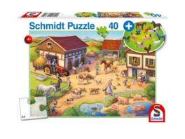 Schmidt Spiele Kinderpuzzle Bauernhof 40 Teile Figuren aus Kunststoff