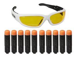 Hasbro Nerf Ultra Vision Gear Brille und 10 Nerf Ultra Darts nur kompatibel mit Nerf Ultra Dart Blaster