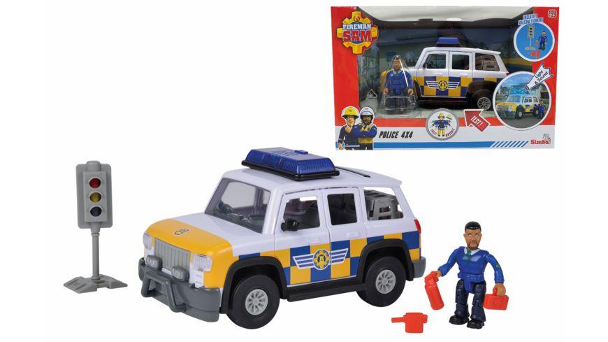 Simba - Feuerwehrmann Sam - Sam Polizeiauto 4x4 mit Figur