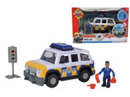 Simba Feuerwehrmann Sam Sam Polizeiauto 4x4 mit Figur