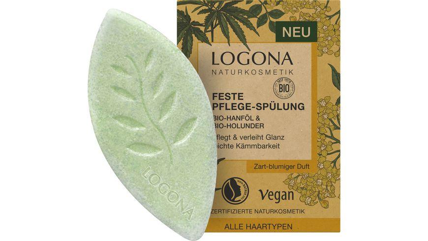 LOGONA Feste Pflege-Spülung Bio-Hanföl & Bio-Holunder