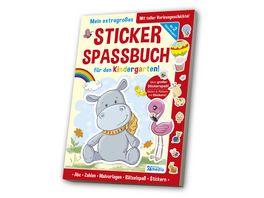 Das extragrosse Stickerspassbuch Kindergarten