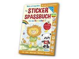 Das extragrosse Stickerspassbuch Vorschule
