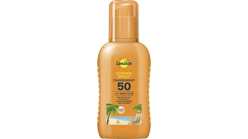 LAVOZON Transparentes Sonnenspray LSF 50