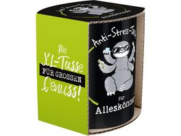 GRUSS CO XL Tasse Anti Stress Tasse fuer Alleskoenner