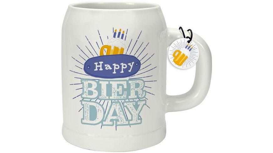 GRUSS & CO Bierkrug »Happy Bierday«