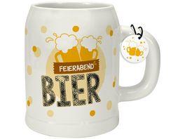 GRUSS CO Bierkrug Feierabendbier