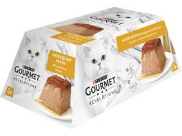 Purina GOURMET Revelations Mousse mit Huhn ueberzogen mit koestlicher Sauce