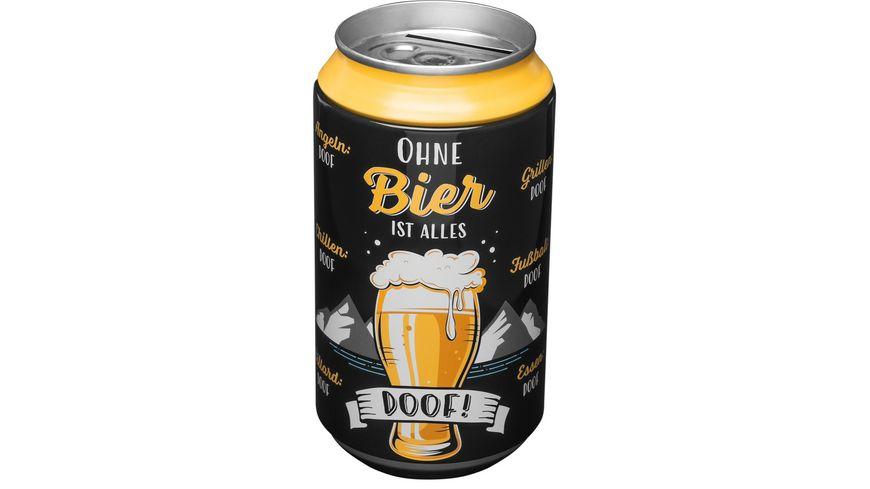 GRUSS & CO Spardose »Ohne Bier ist alles Doof!«