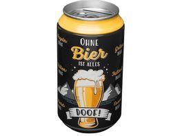 GRUSS CO Spardose Ohne Bier ist alles Doof