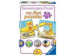Ravensburger Puzzle Tierische Baustelle 9x2Teile My first puzzle Puzzle fuer Kinder ab 2 Jahren