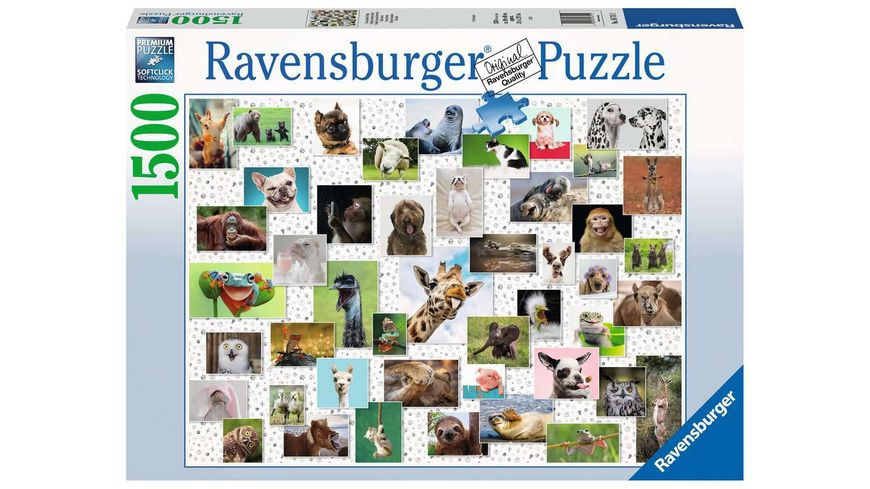 Ravensburger Puzzle - Funny Animals Collage - 1500 Teile