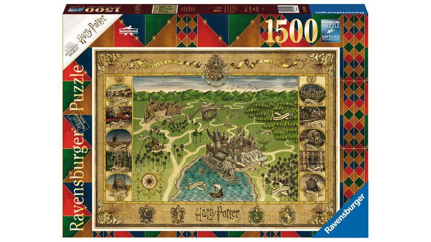 Ravensburger Puzzle - Hogwarts Karte - 1500 Teile