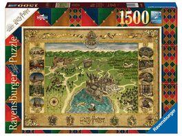 Ravensburger Puzzle Hogwarts Karte 1500 Teile