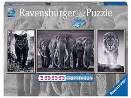Ravensburger Puzzle Panter Elefanten Loewe 1000 Teile