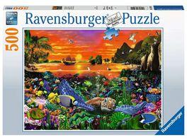 Ravensburger Puzzle Schildkroete im Riff 500 Teile