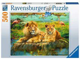 Ravensburger Puzzle Loewen in der Savanne 500 Teile