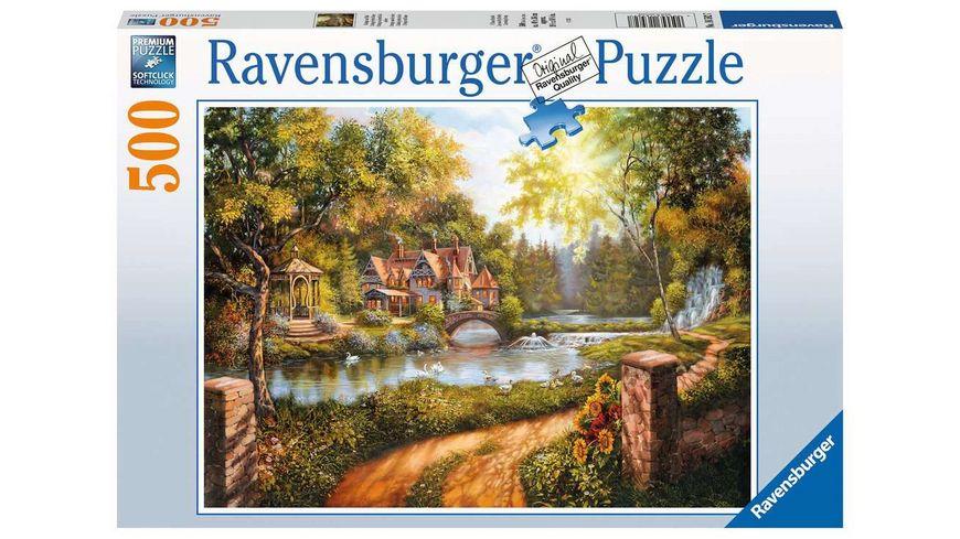 Ravensburger Puzzle - Cottage am Fluß - 500 Teile