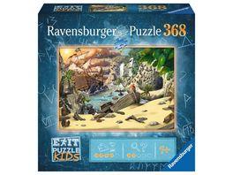 Ravensburger Puzzle EXIT Puzzle Kids 12954 Das Piratenabenteuer 368 Teile Puzzle fuer Kinder ab 9 Jahren
