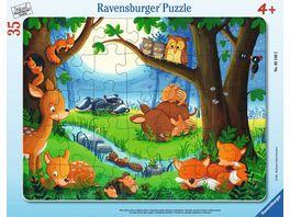 Ravensburger Puzzle Wenn kleine Tiere schlafen gehen 35 Teile