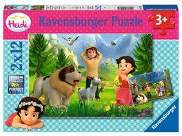 Ravensburger Puzzle Gemeinsame Zeit in den Bergen Kinderpuzzle 2x12 Teile