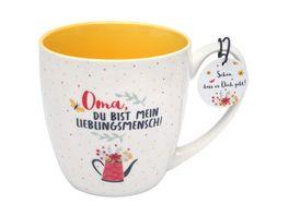 GRUSS CO Tasse Motiv Oma Du bist mein Lieblingsmensch