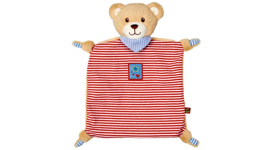 Die Spiegelburg - Schnuffeltuch Teddy BabyGlück, rot