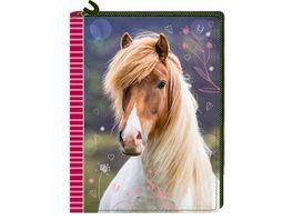 Die Spiegelburg Tagebuch mit Reissverschluss Pferdefreunde