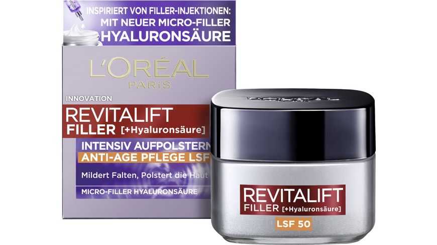 L'ORÉAL PARIS REVITALIFT Filler [+Hyaluronsäure] Intensiv Aufpolsternde Anti-Age Tagescreme LSF 50