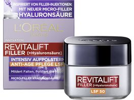 L OREAL PARIS REVITALIFT Filler Hyaluronsaeure Intensiv Aufpolsternde Anti Age Tagescreme LSF 50
