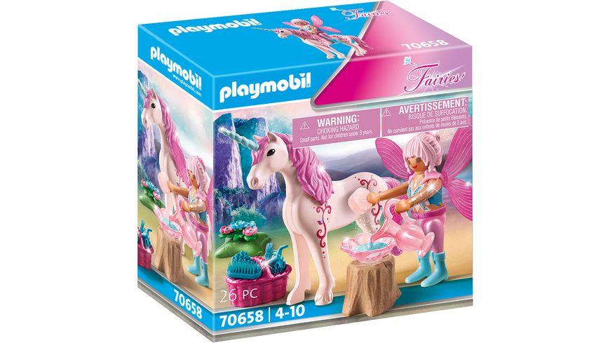 PLAYMOBIL 70658 - Fairies - Einhorn mit Pflege-Fee