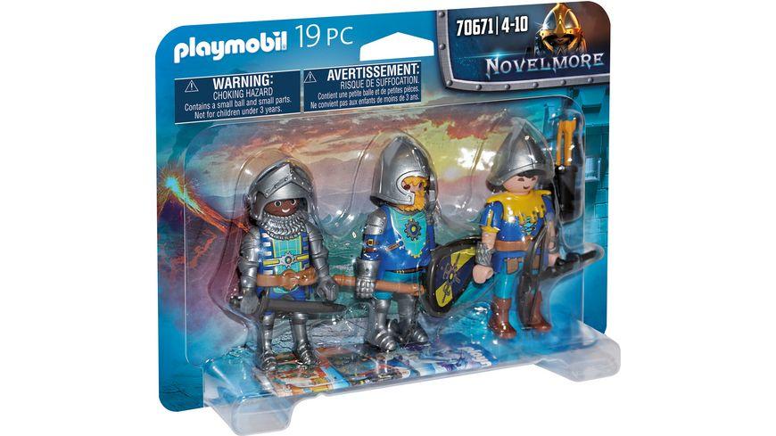 PLAYMOBIL 70671 - Novelmore - 3er Set Novelmore Ritter