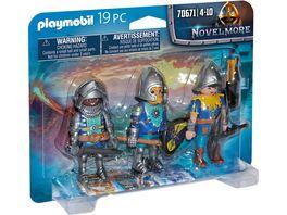 PLAYMOBIL 70671 Novelmore 3er Set Novelmore Ritter