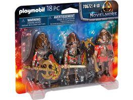 PLAYMOBIL 70672 Novelmore 3er Set Burnham Raiders