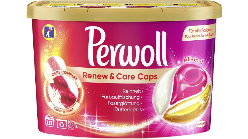 Perwoll Caps Renew & Care Color & Faser