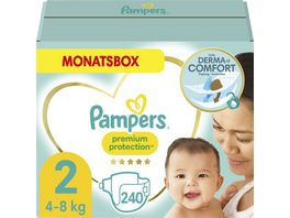 Pampers PREMIUM PROTECTION NEW BABY Windeln Gr 2 Mini 4 8kg MonatsBox