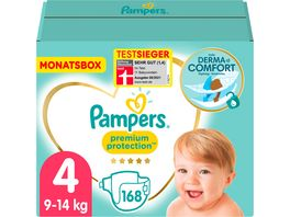 Pampers Windeln Premium Protection Groesse 4 Maxi 8 16kg Monatsbox