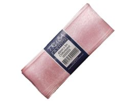 TRUBA Chiffonband mit Draht uni rosa