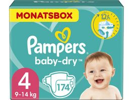 Pampers Windeln Baby Dry Groesse 4 Maxi 9 14kg Monatsbox