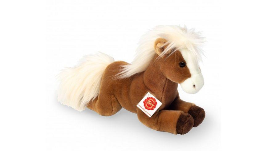Teddy-Hermann - Kuscheltier Pferd liegend hellbraun 30 cm
