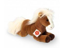 Teddy Hermann Kuscheltier Pferd liegend hellbraun 30 cm