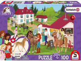 Schmidt Spiele Kinderpuzzle Schleich Auf dem Reiterhof 100 Teile mit Add on Original Figur