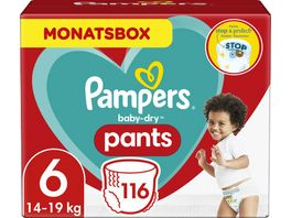 Pampers Windeln Baby Dry Pants Groesse 6 Extra Large 15 kg Monatsbox