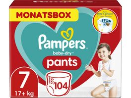 Pampers Windeln Baby Dry Pants Groesse 7 Extra Large 17 kg Monatsbox