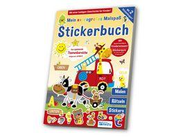 Mein extragrosses Malbuch Stickerbuch Kindergarten 2